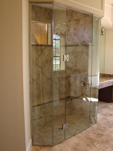 Double Neo Floor To Ceiling Shower Enclosure
